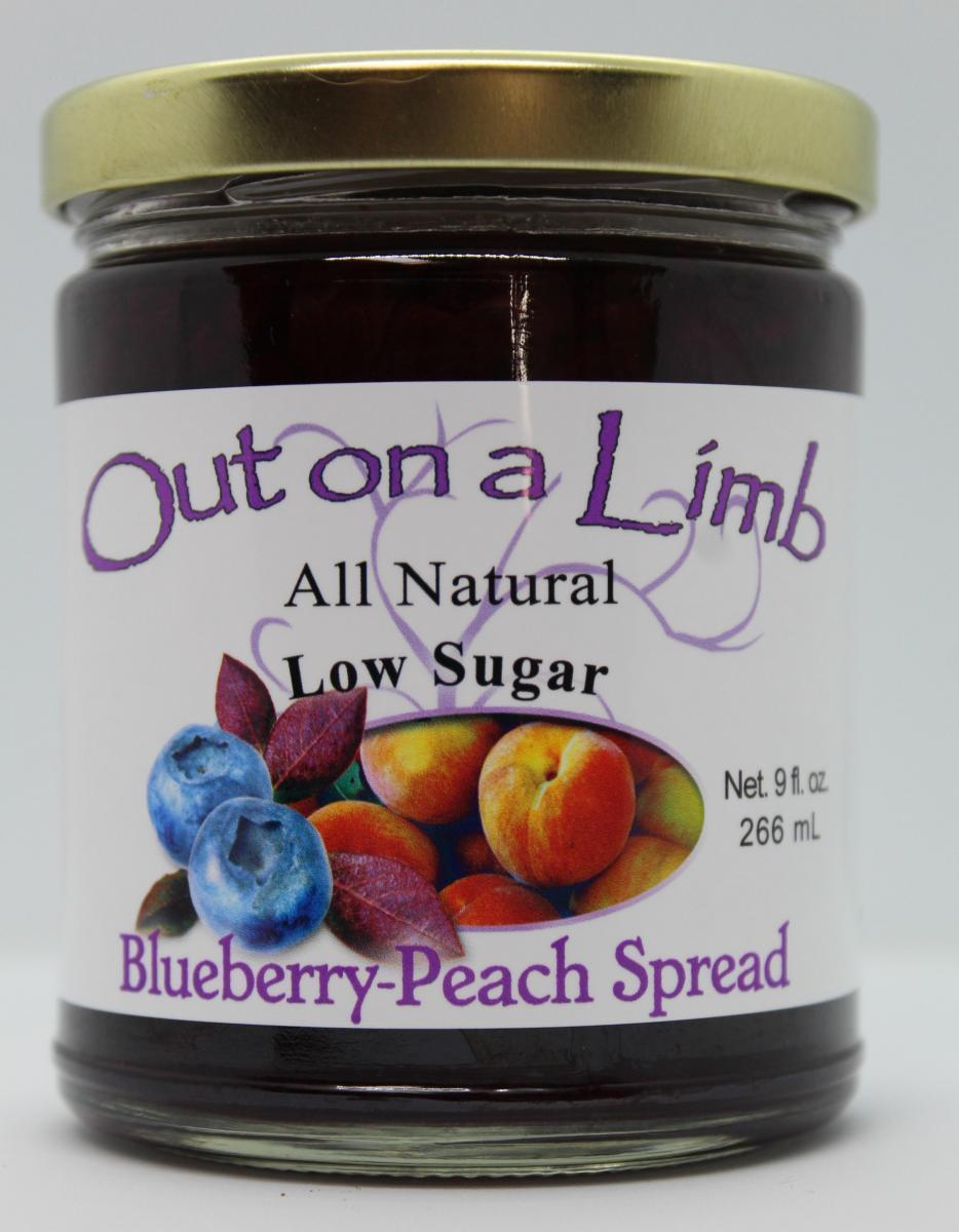 Low Sugar Blueberry-Peach Spread