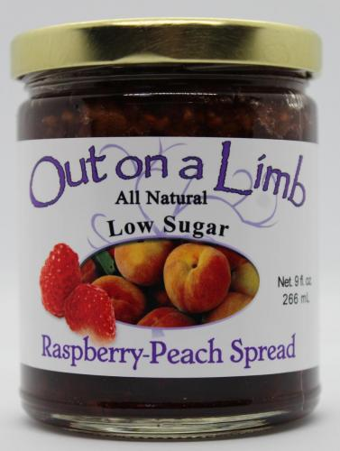 Low Sugar Raspberry-Peach Spread