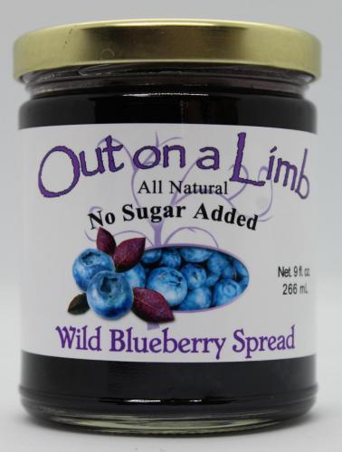No Sugar Added Wild Blueberry Spread