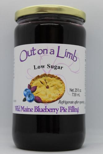 Low Sugar Wild Maine Blueberry Pie Filling
